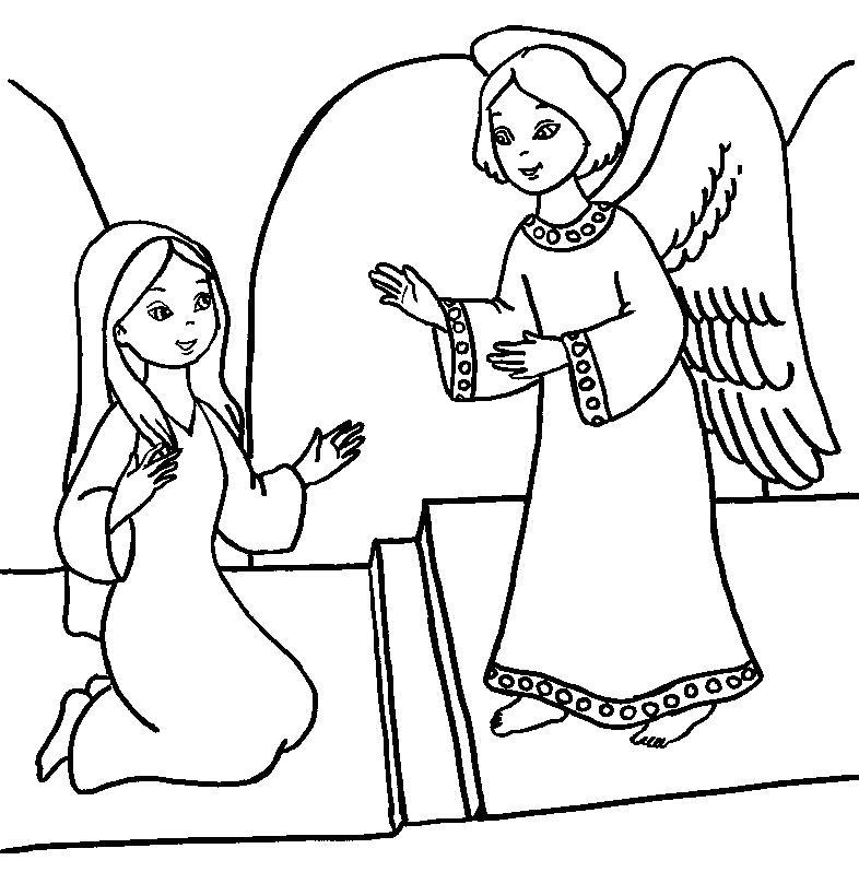 786x798 Annunciation Coloring Pages