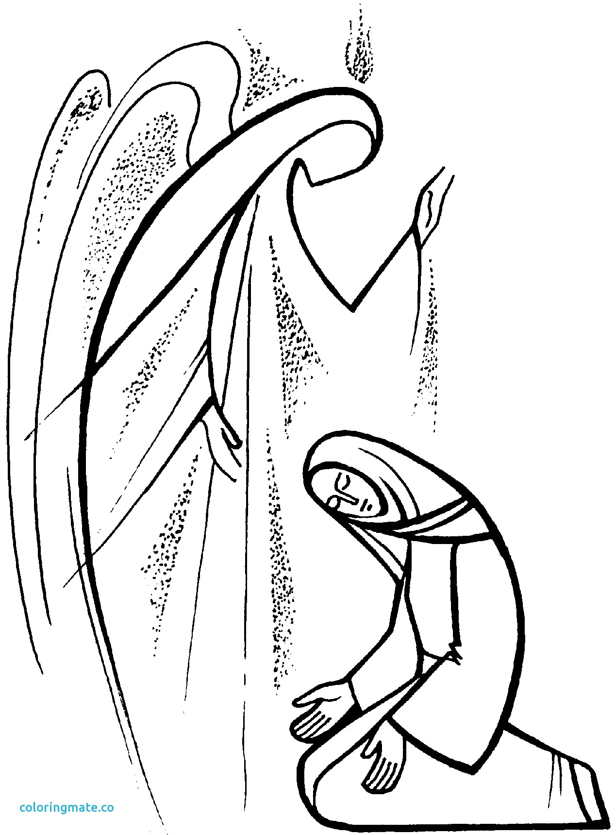 1269x1719 Mary And Gabriel Coloring Page