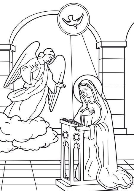 452x640 Image Coloring Annunciation Of The Angel To Virgin Mary Ltbr