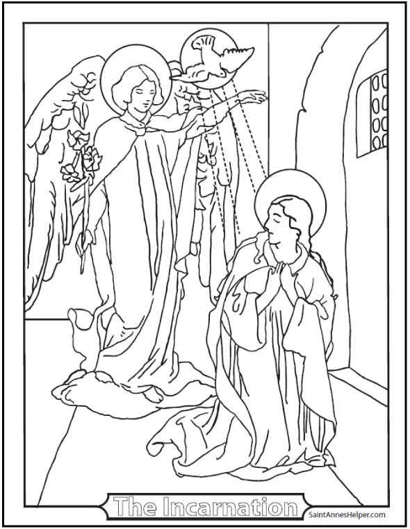 590x762 Incarnation Coloring Page