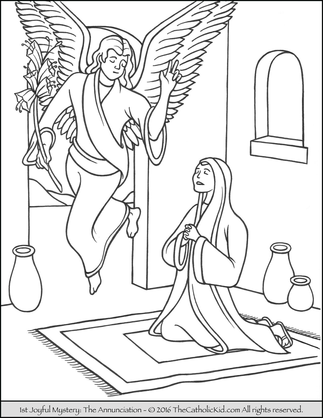 1275x1650 The Joyful Mystery Coloring Page