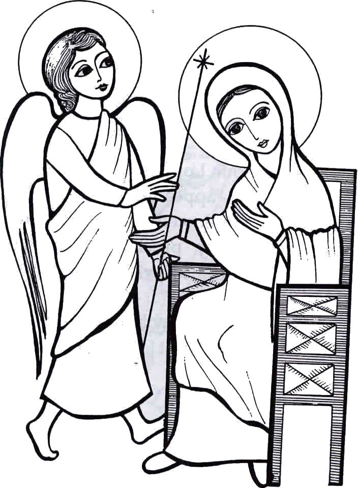 704x960 The Annunciation Coloring Page Beautiful Catholic