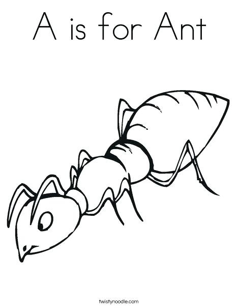 468x605 Ants Coloring Pages Army Ant Coloring Pages Cute For Kids Ant