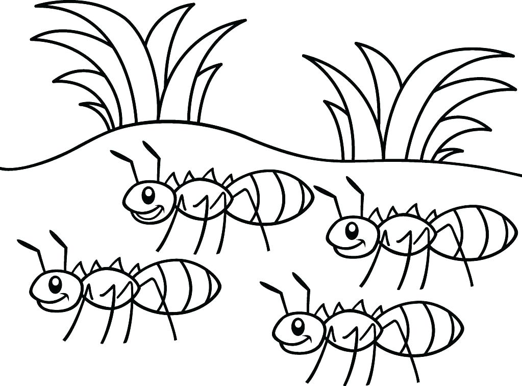 1023x756 Ant Coloring Page Happy Ant Dancing Coloring Page Anteater