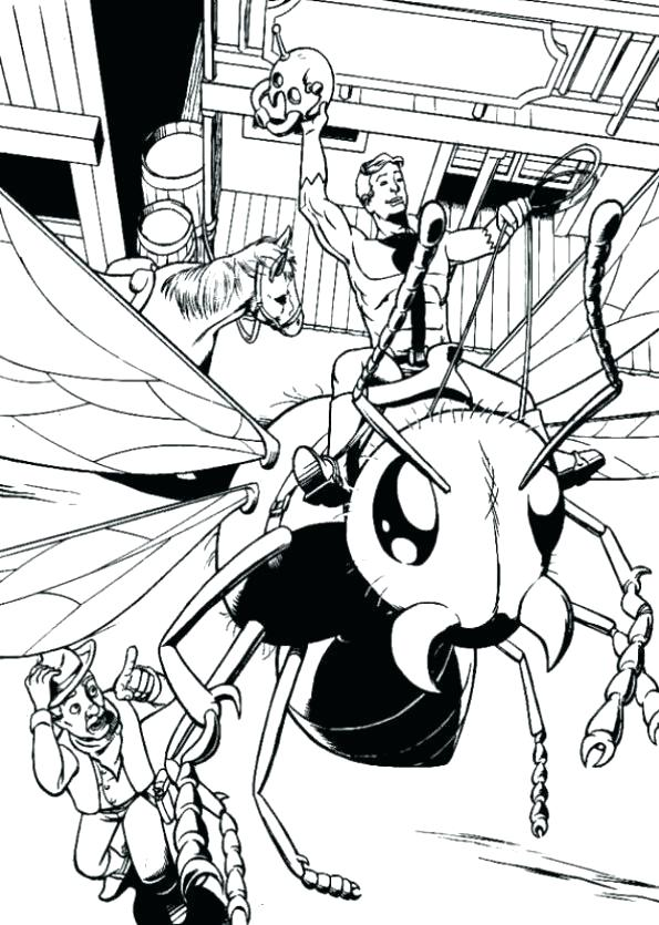 595x835 Coloring Pictures Of Ant Ant Man Coloring Pages Ant Man Coloring