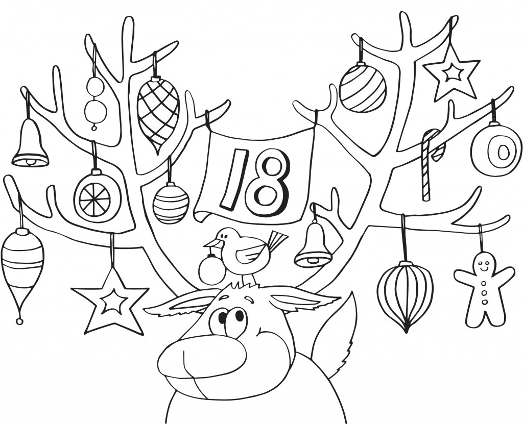 Antler Coloring Page