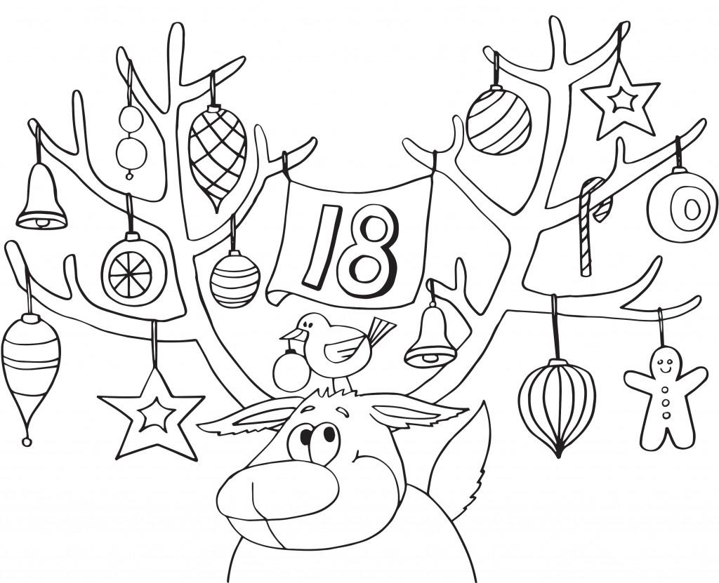 1024x831 Advent Calendar Coloring Pages