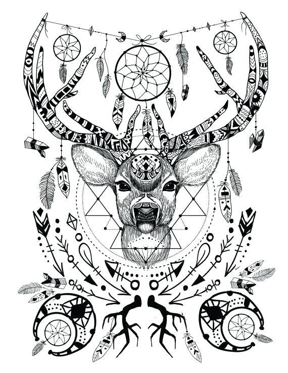570x738 Deer Coloring Pages Deer Coloring Page Add Pipe Cleaner Antlers