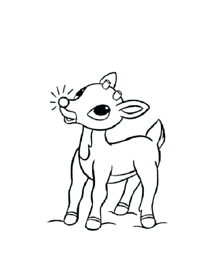736x951 Printable Coloring Pages Printable Coloring Pages Reindeer