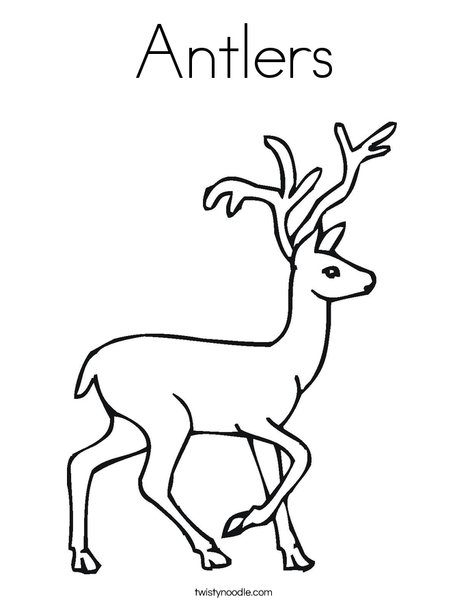 468x605 Antlers Coloring Page