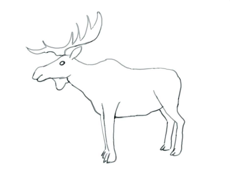 940x760 Reindeer Antlers Coloring Pages