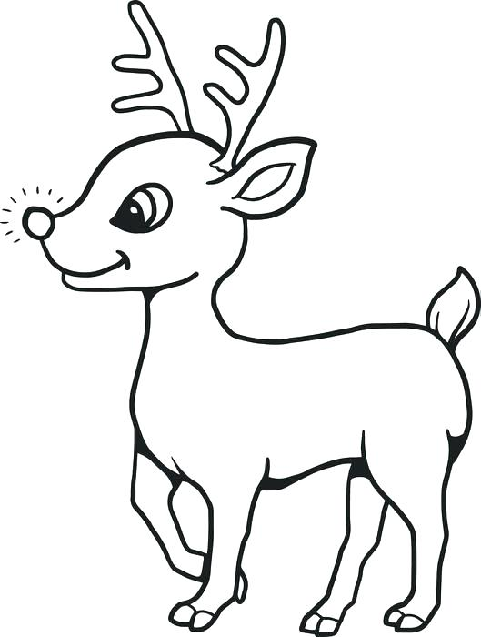 529x700 Reindeer Color Page