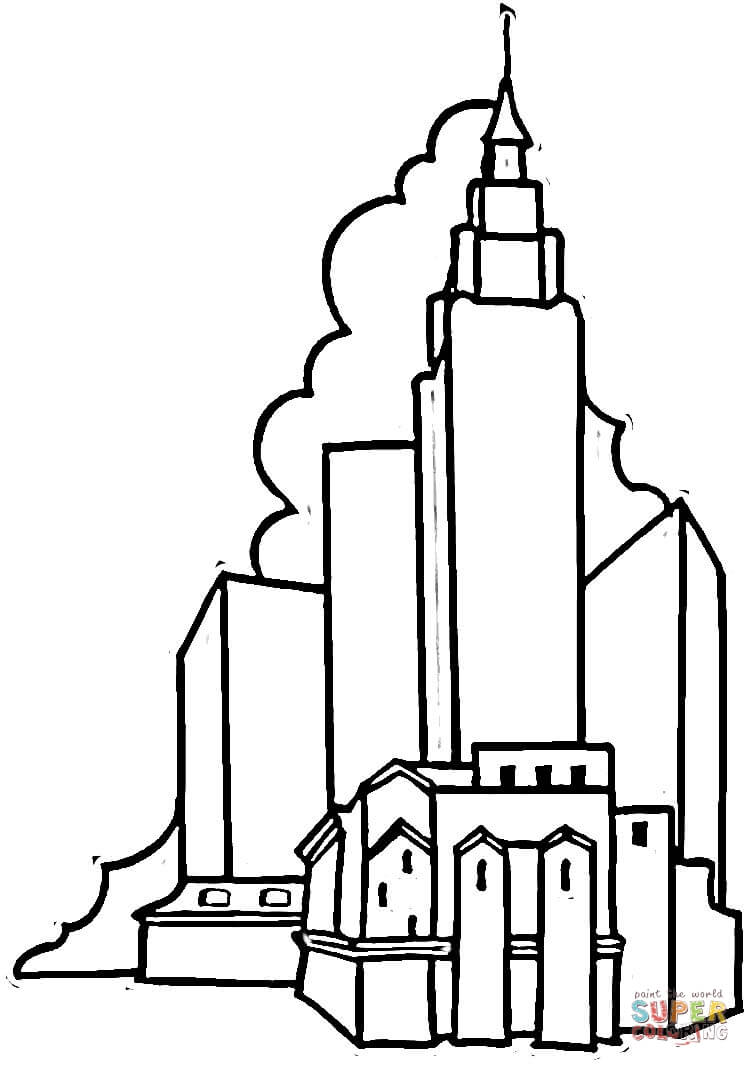 750x1066 Building Coloring Pages