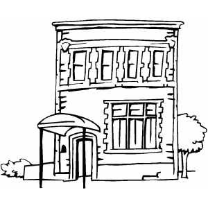 300x300 Apartment Building Coloring Page