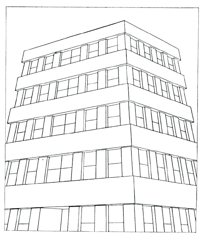 650x754 Apartment Building Coloring Pages Or Building Coloring Pages