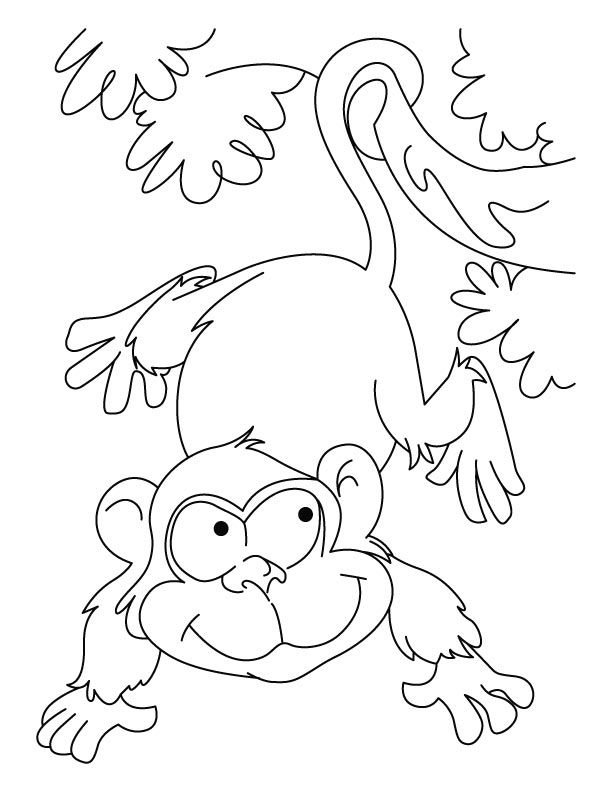 612x792 Playing Ape Coloring Pages Download Free Playing Ape Coloring