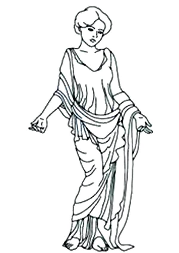 600x848 Aphrodite Coloring Pages Amazing Goddess Of Love Coloring Page