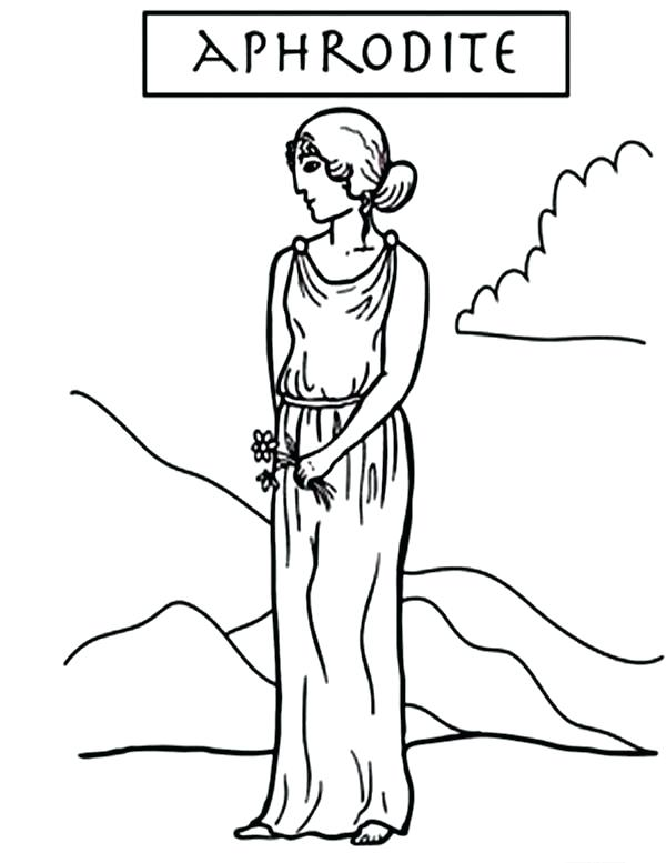 600x777 Aphrodite Coloring Pages Aphrodite Goddess Of Love Coloring Pages