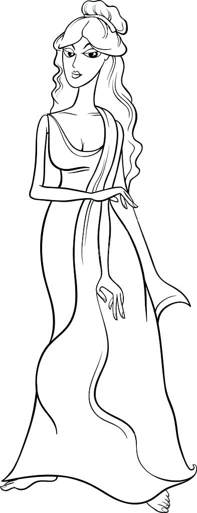 393x1023 Aphrodite Coloring Pages Coloring Pages Goddess Coloring Pages