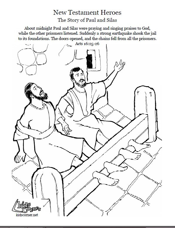595x775 Apostle Paul In Prison Coloring Page