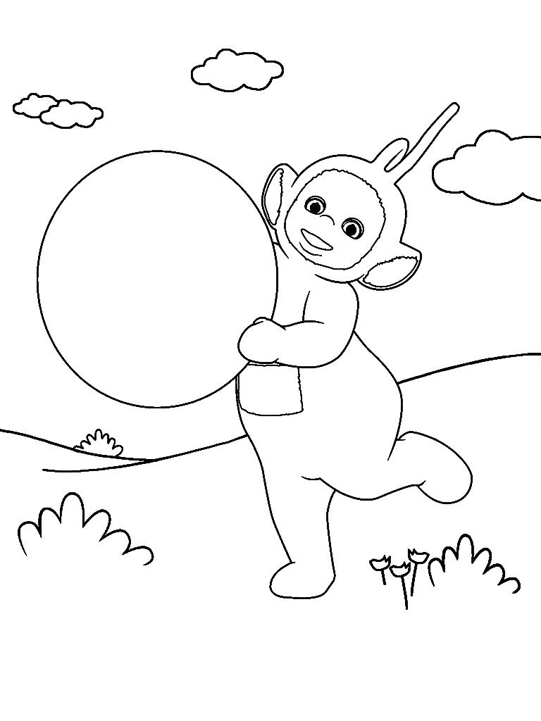 768x1024 Teletubbies Coloring Page From Teletubbies Paint Sparkles App