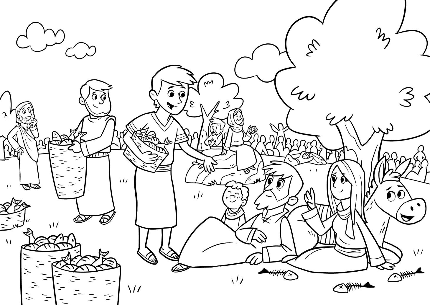 1459x1033 Unbelievable Jesus Feeds Bible App For Kids Story The Big Picnic