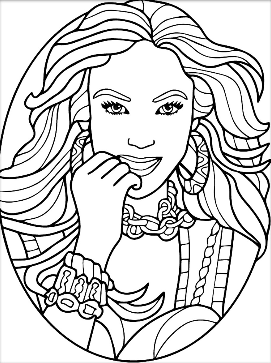 913x1225 Beauty Antistress Coloring App Beautiful Women Coloring Pages