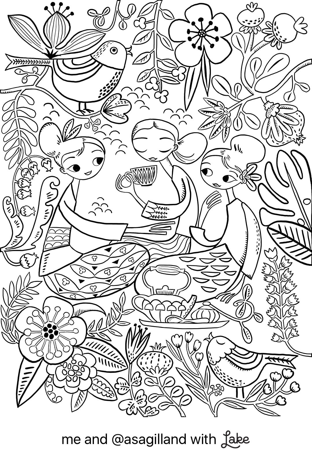 1080x1595 Coloring Page From Lake Coloring App Coloring Pages