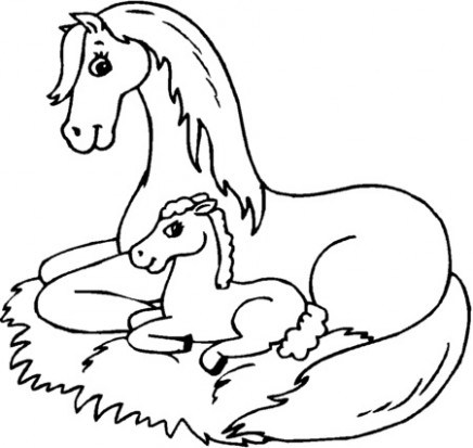 436x413 Printable Horse Coloring Pages Coloring Me