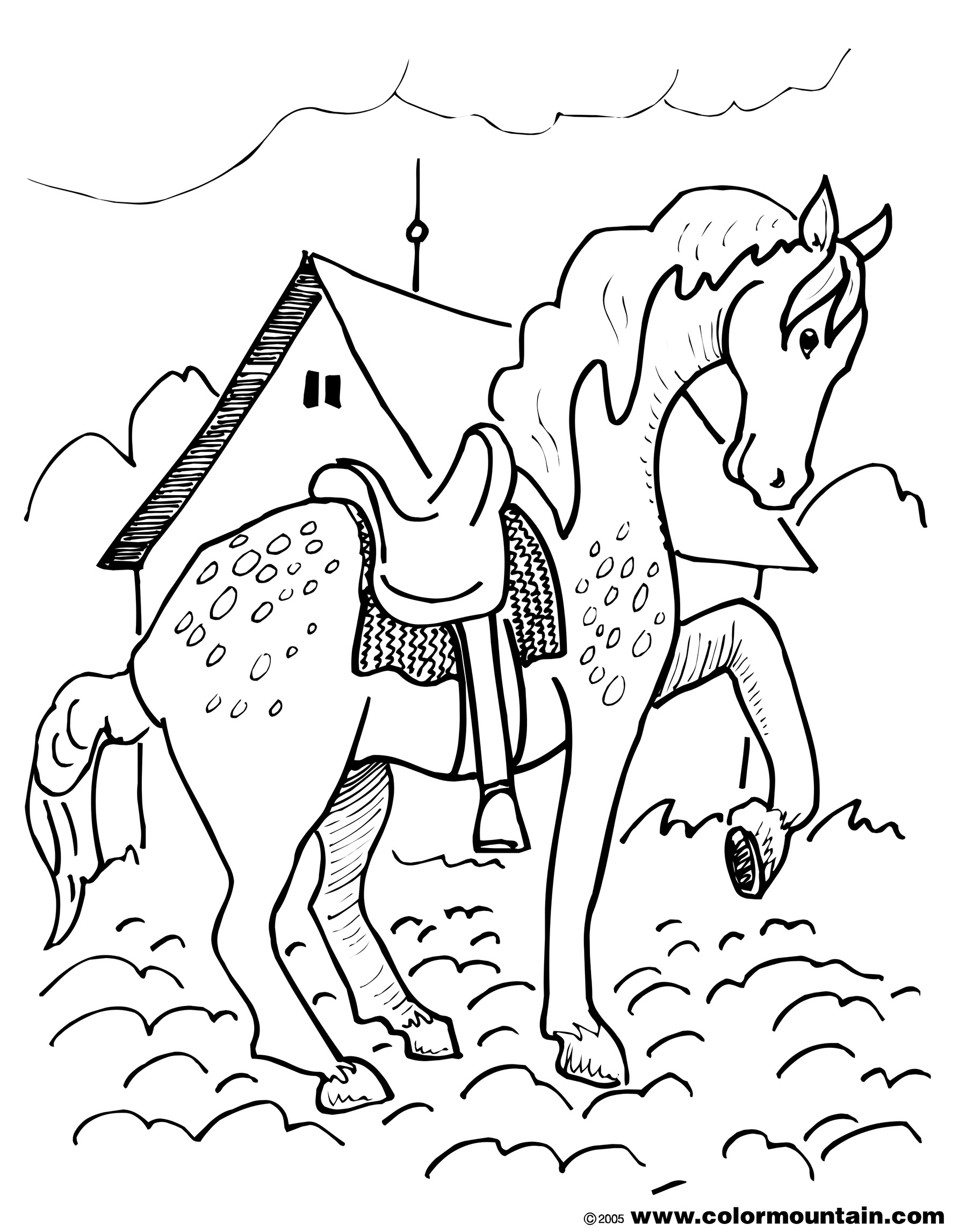 1800x2294 Strange Horse Pictures To Print Out Appaloosa Coloring Page Free