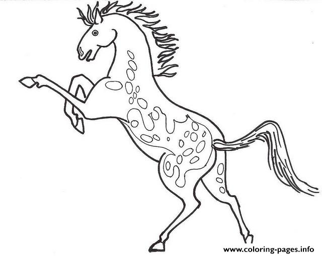 640x509 Appaloosa Horse Coloring Pages Printable