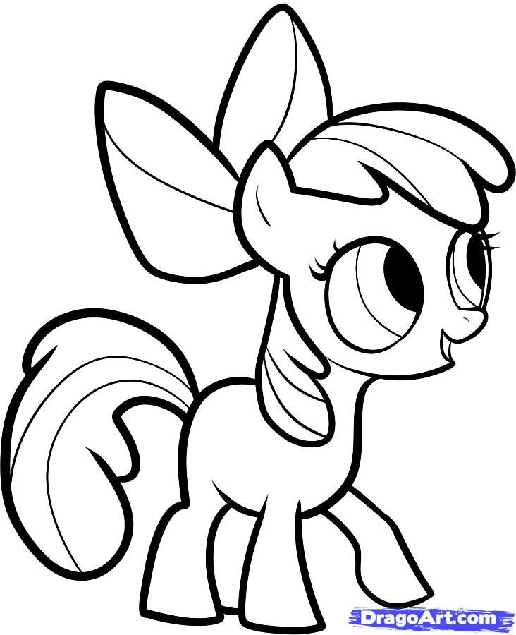 732x900 How To Draw Apple Bloom, Apple Bloom, My Little Pony, Step