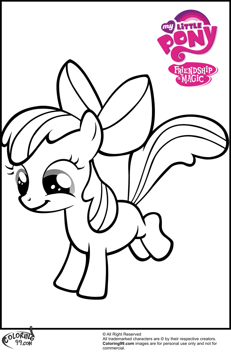 980x1500 My Little Pony Apple Bloom Coloring Page