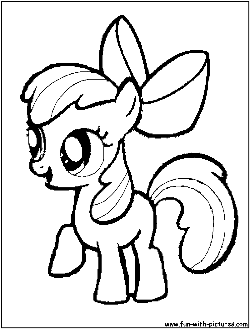 800x1050 My Little Pony Apple Bloom Coloring Page