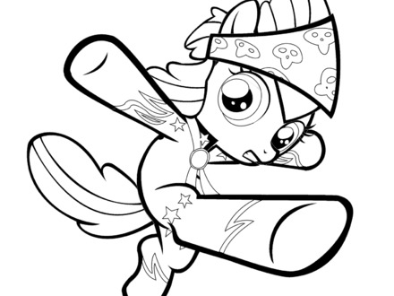 440x330 My Little Pony Apple Bloom Coloring Page Download, My Little Pony