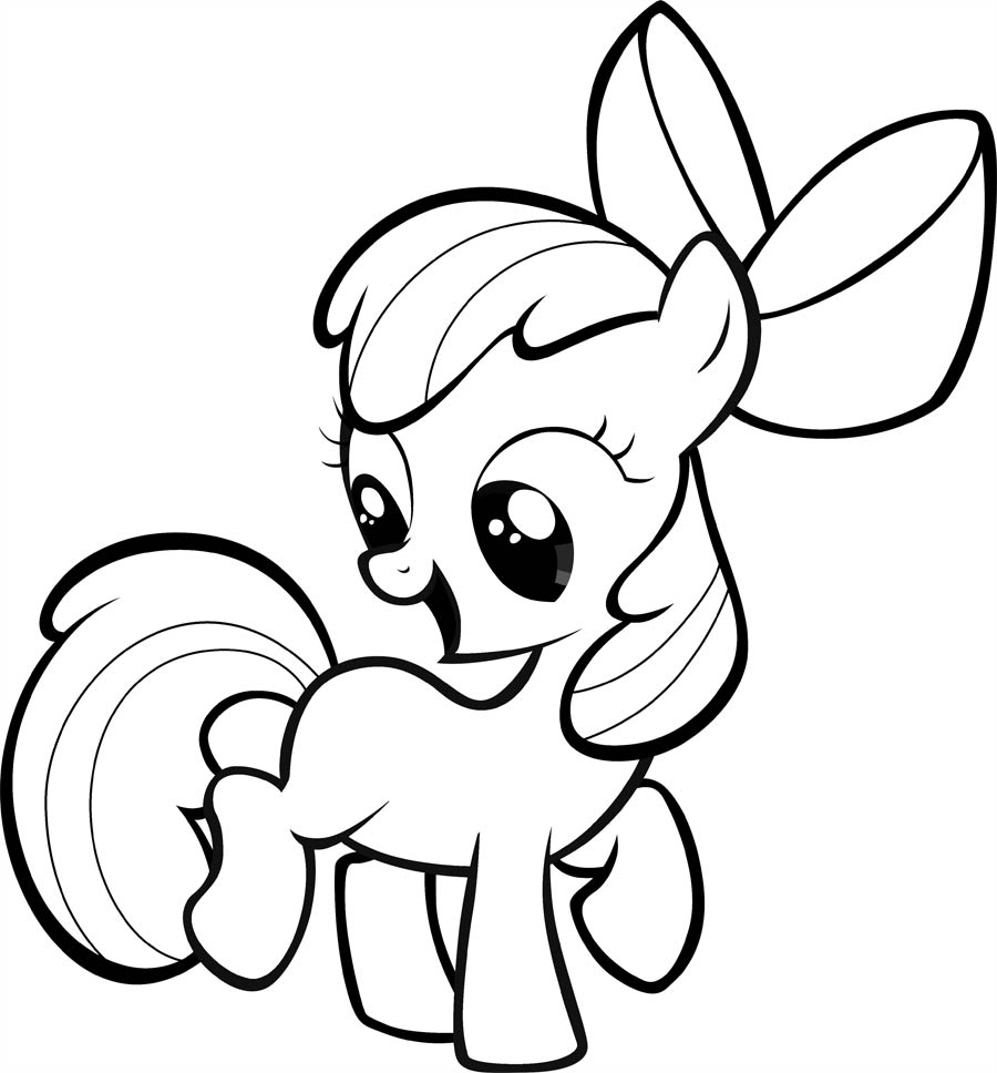 900x968 My Little Pony Apple Bloom Coloring Pages