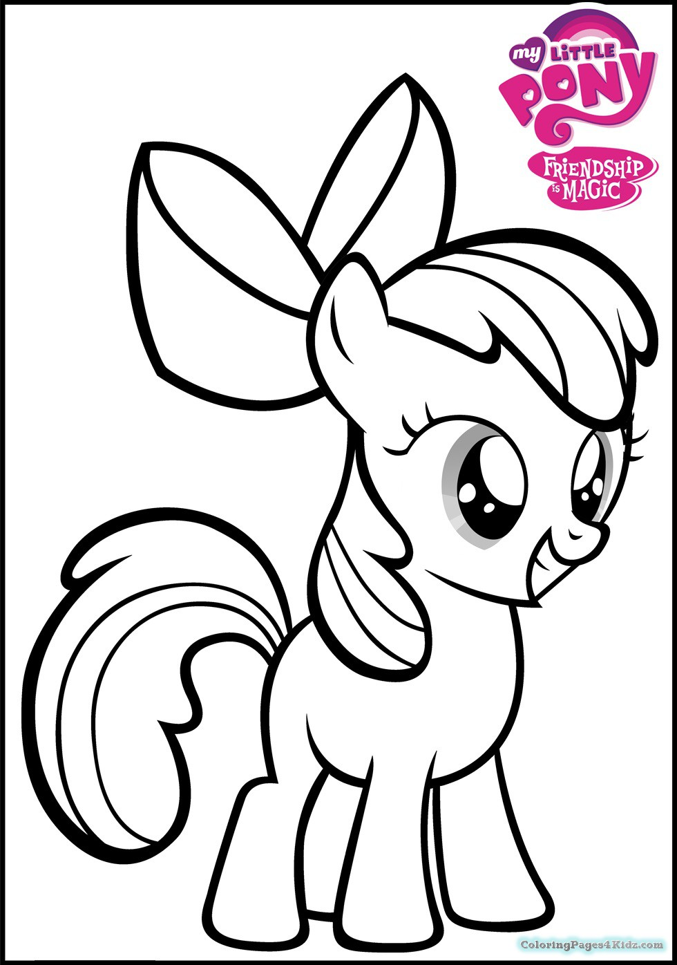 980x1396 My Little Pony Apple Bloom Coloring Pages Coloring Pages For Kids