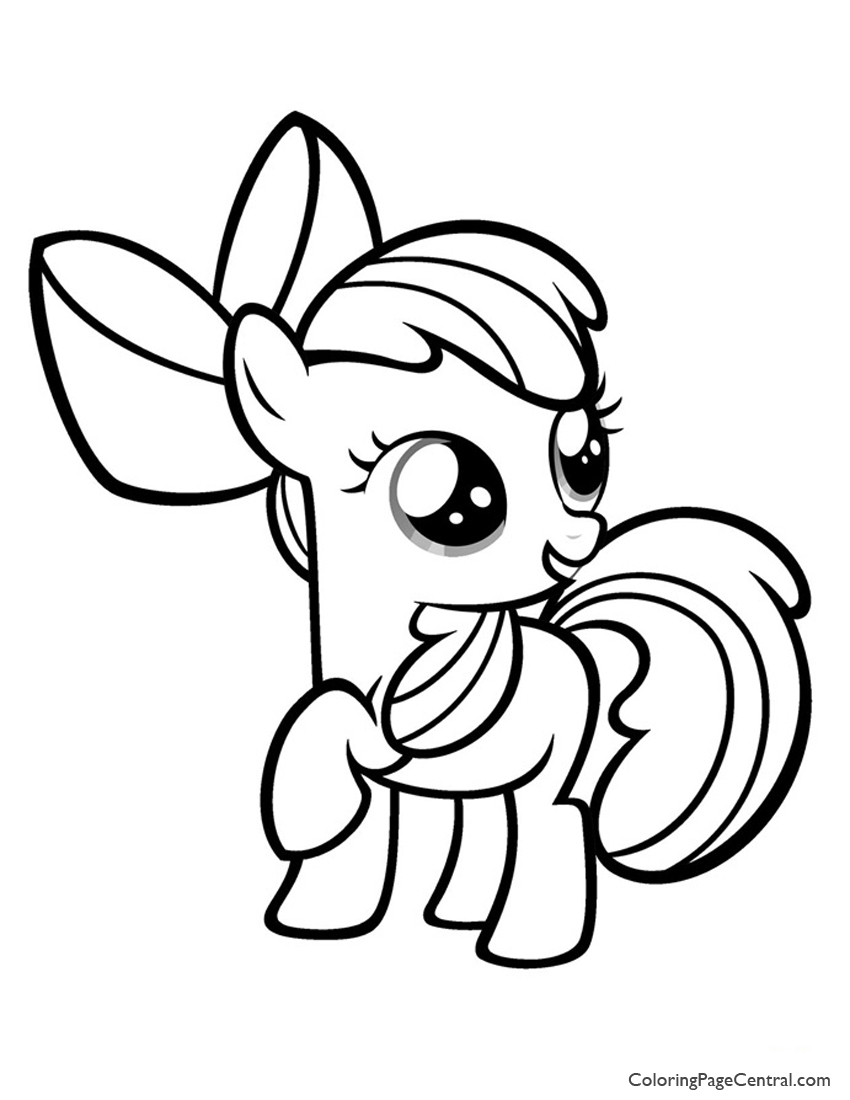 850x1100 My Little Pony Apple Bloom Coloring Page Coloring Page Central