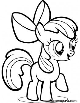 262x338 Printable My Little Pony Friendship Is Magic Apple Bloom Coloring