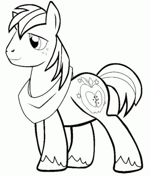 480x561 Apple Bloom Coloring Page Free Download