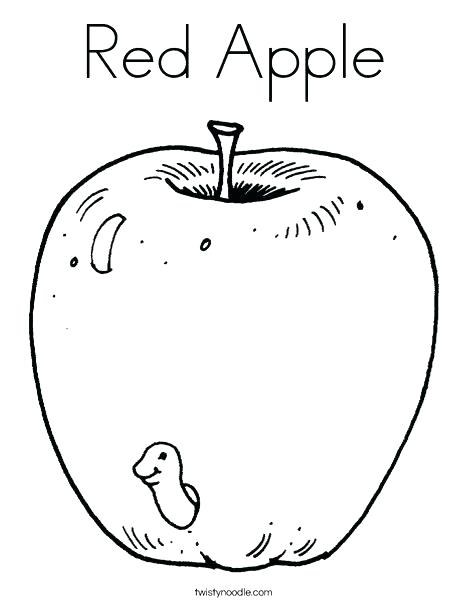 468x605 Apple Coloring Picture