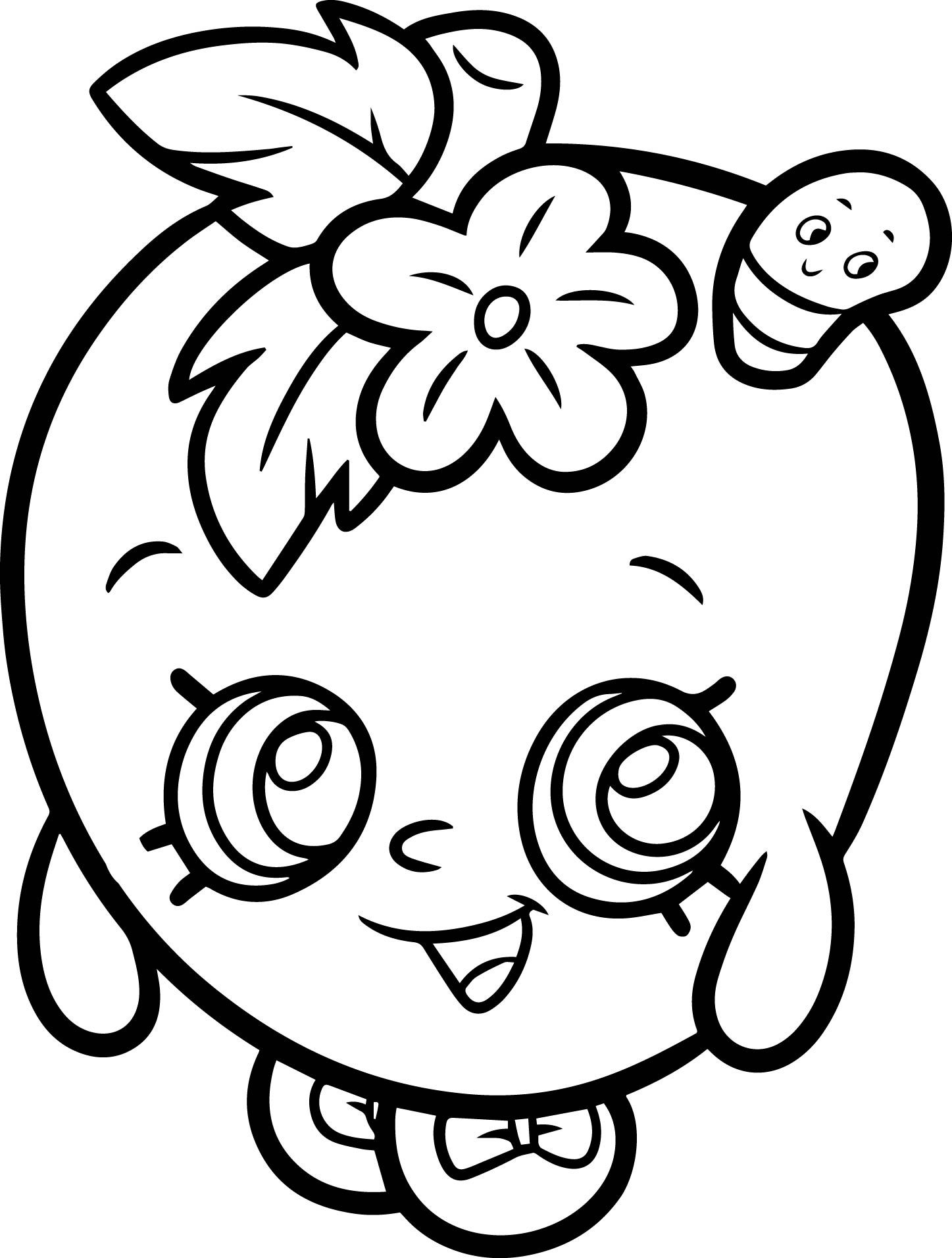 1447x1912 Apple Blossom From Shopkins Coloring Page Shopkins, Apples