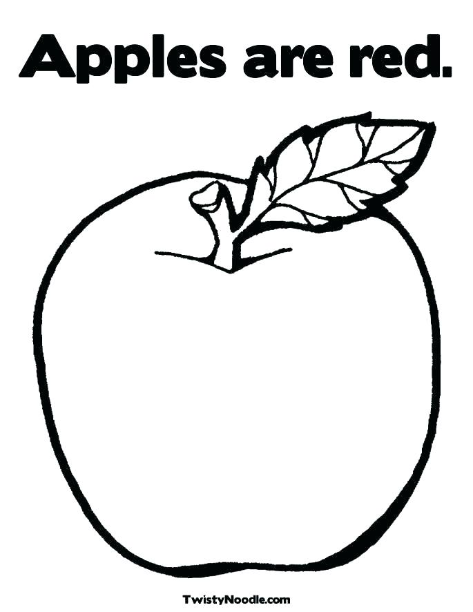 685x886 Apples Coloring Page Coloring Page Of An Apple Fruits Coloring