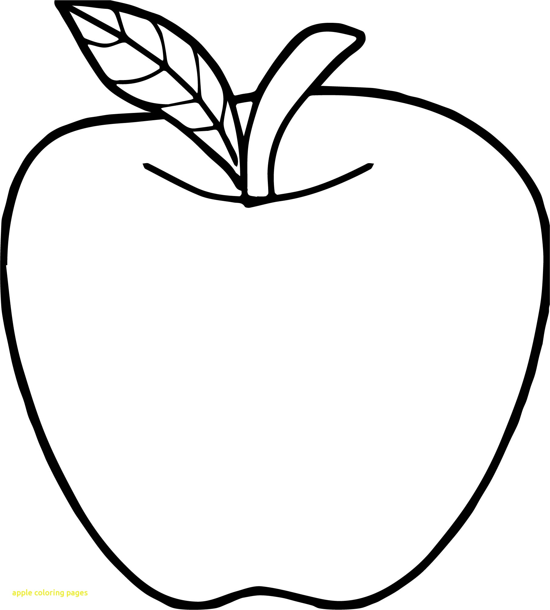 1809x2004 Apple Coloring Page