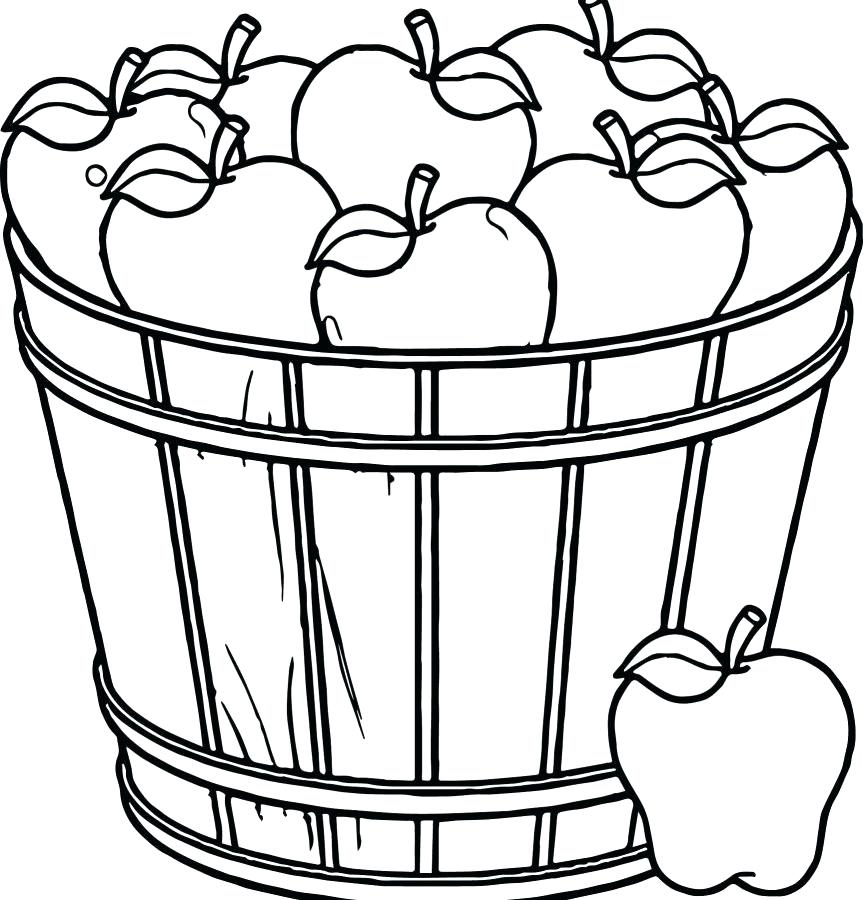 863x900 Apples Coloring Page Fall Apple Tree Coloring Pages Apple Coloring