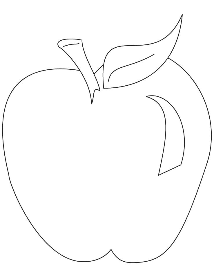 738x954 Coloring Apple Picture Apple Coloring Page This Beautiful Apple