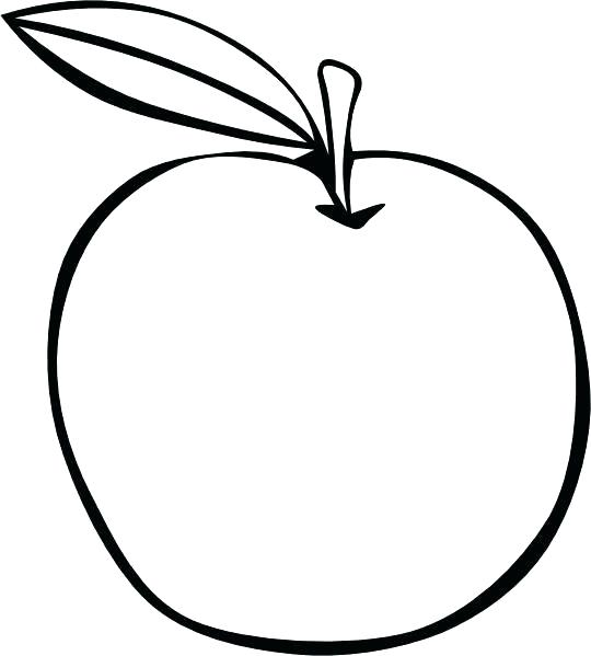 540x599 Coloring Pages Fruit Apple Coloring Page Apple Coloring Page Apple