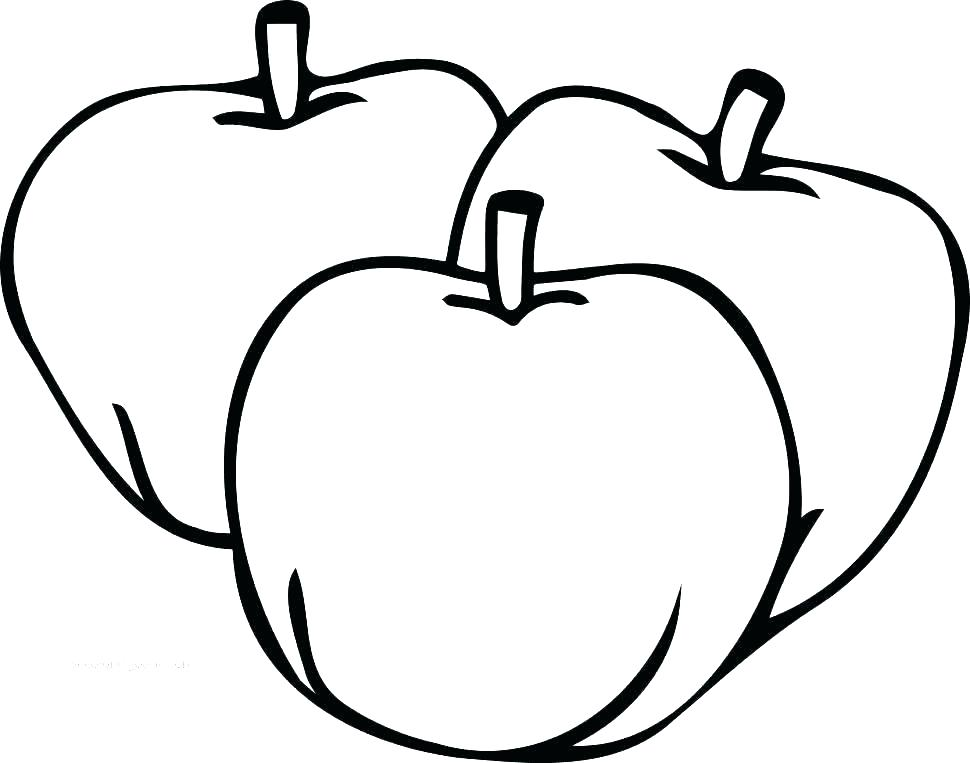 970x763 Free Apple Coloring Pages Apple Coloring Pages For Preschoolers