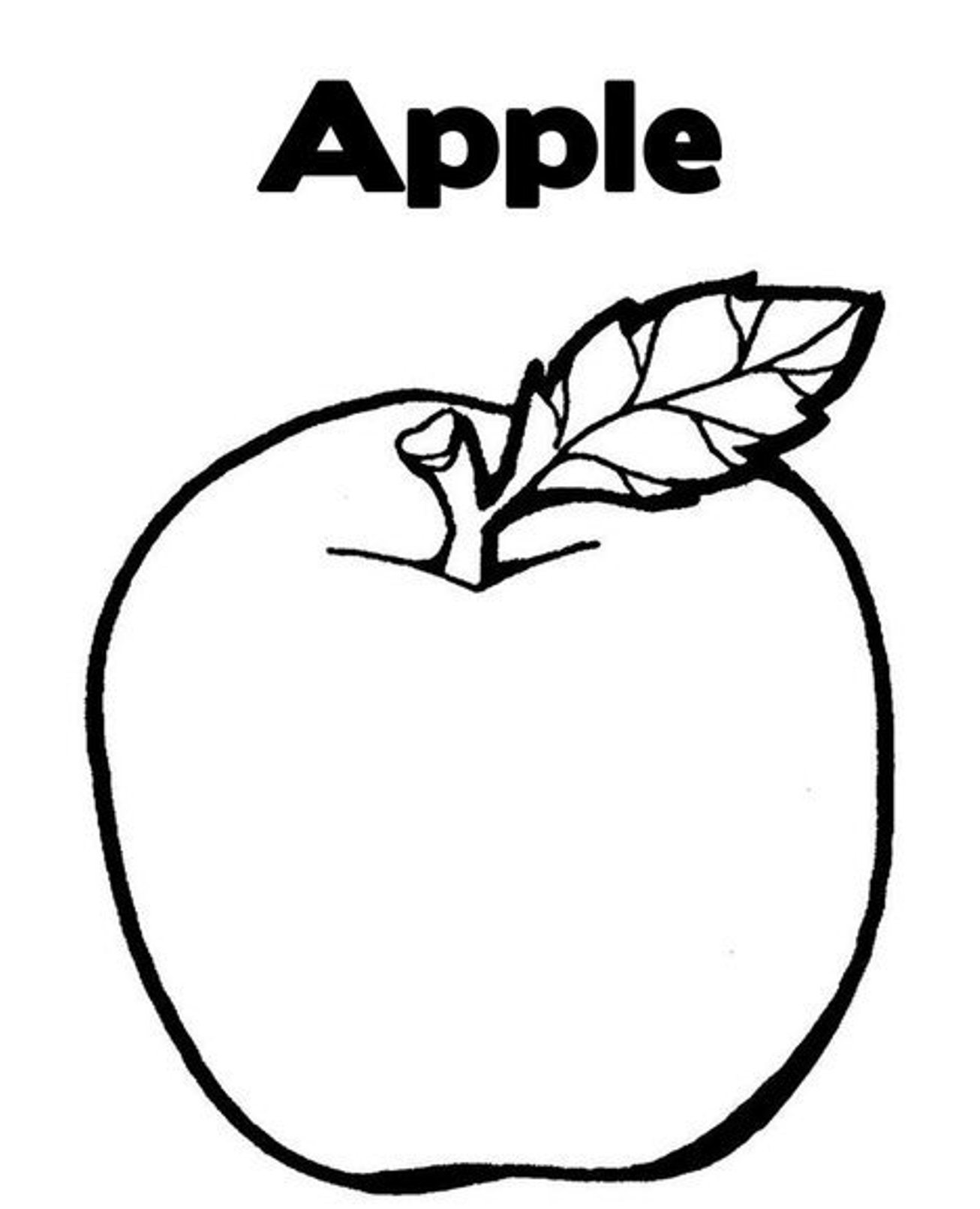1306x1612 Free Apple Fruit Coloring Pages On Sheet