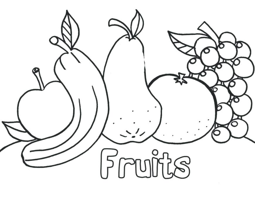 870x673 Fruit Basket Coloring Pages Free Printable Fruit Coloring Pages
